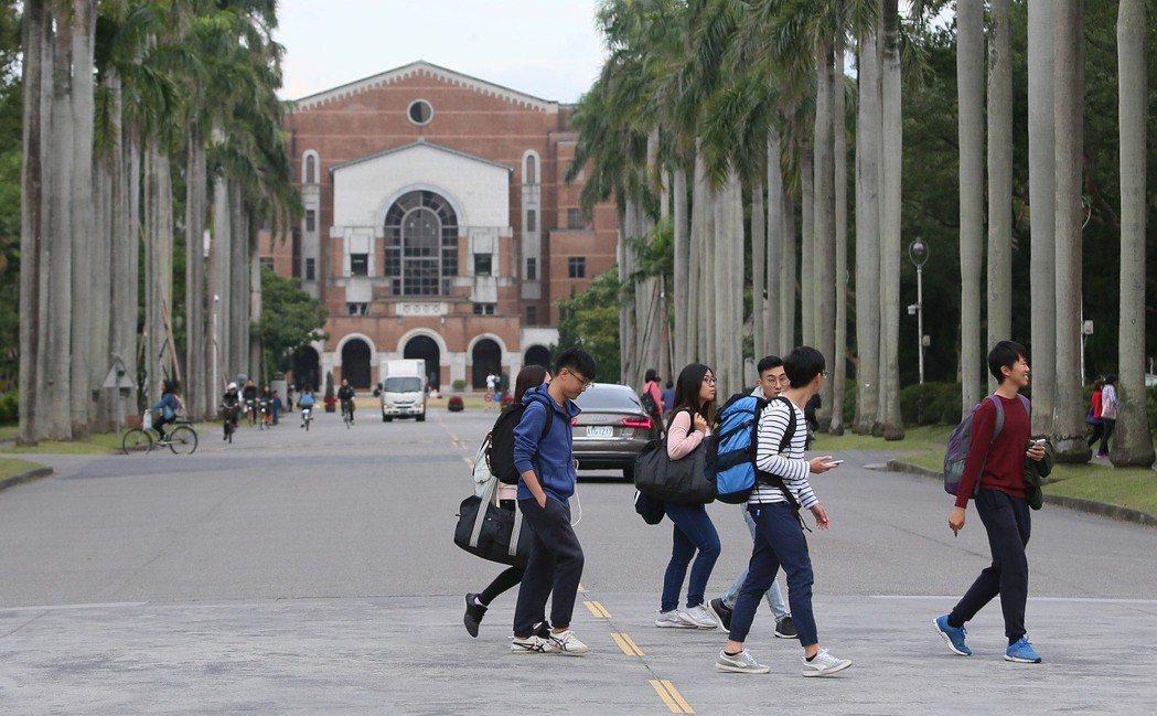 圖為台大校園一隅。本報資料照/記者陳柏亨攝影