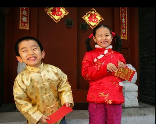 兒童歡樂過年拿壓歲錢,福建的孩子最開心。 圖/取自網易