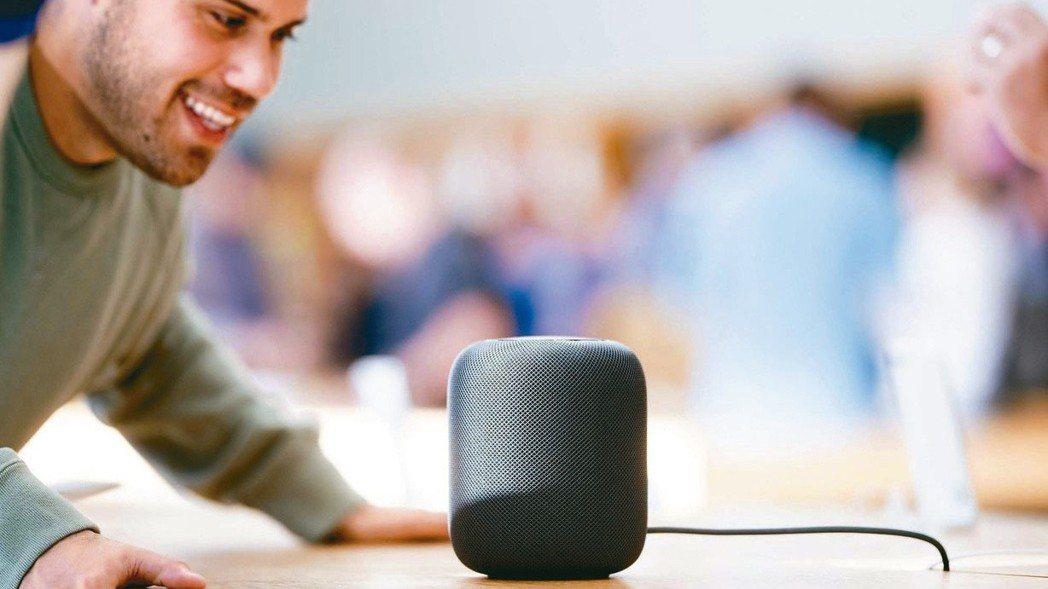 蘋果首款智慧音箱HomePod。 法新社