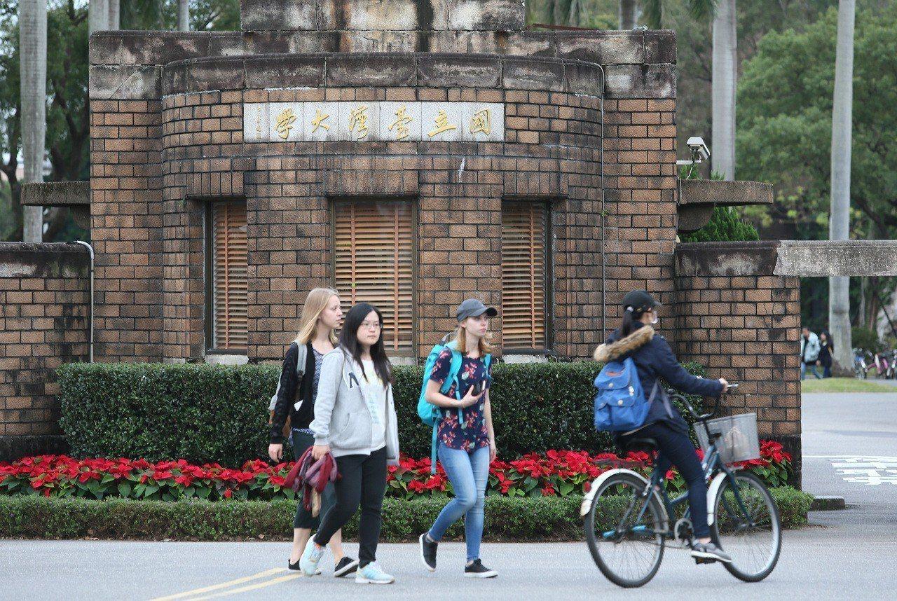 圖為台大校園一隅。記者陳柏亨/攝影