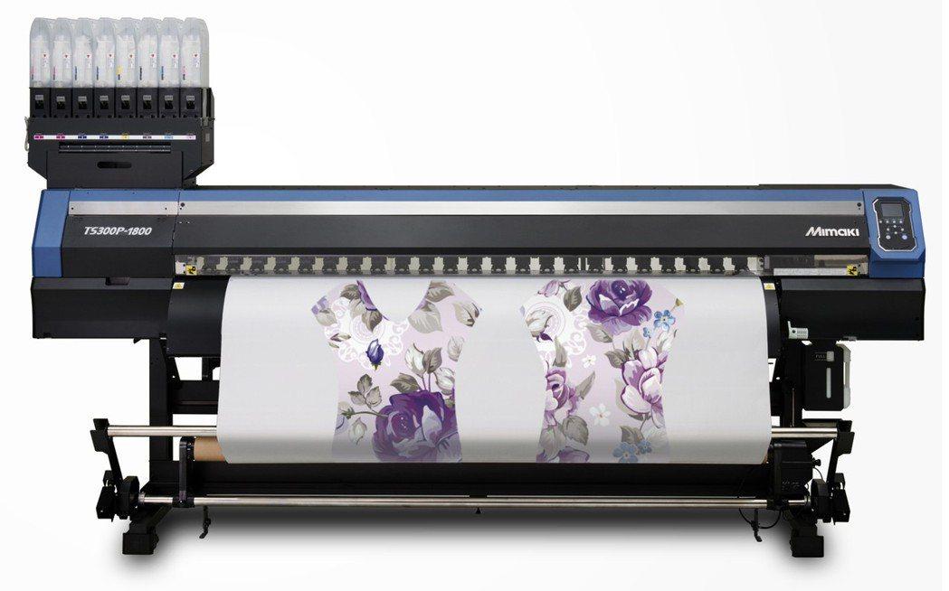 Mimaki 昇華轉印噴墨印刷機TS300P,擁有可變墨點及減少刷線的MAPS系...