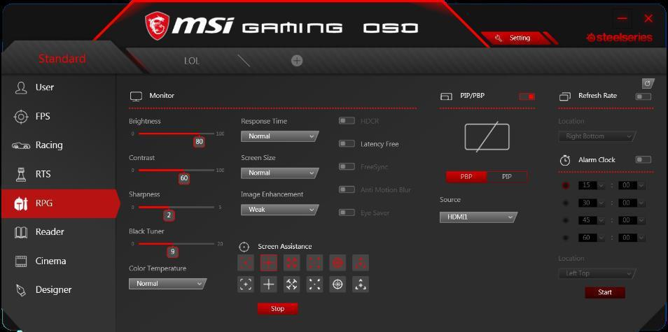 Gaming OSD APP讓螢幕效能操之在手,創意十足。 微星/提供
