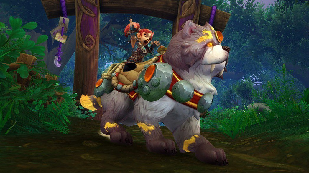 「神聖哨兵」戌善是陪伴冒險者挺身保護艾澤拉斯的忠誠好夥伴。