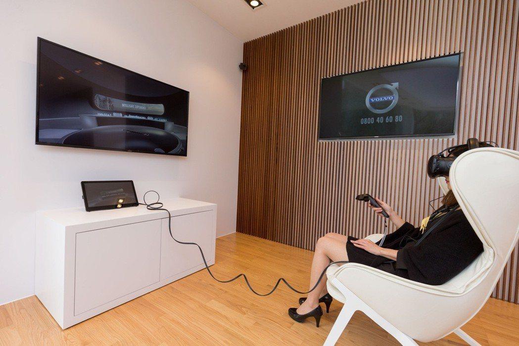 VOLVO北歐快閃店移植VRE全新豪華旗艦展間,現場更提供全新Volvo IntelliSafe VR 體驗裝置展現新世代科技。 圖/國際富豪汽車提供