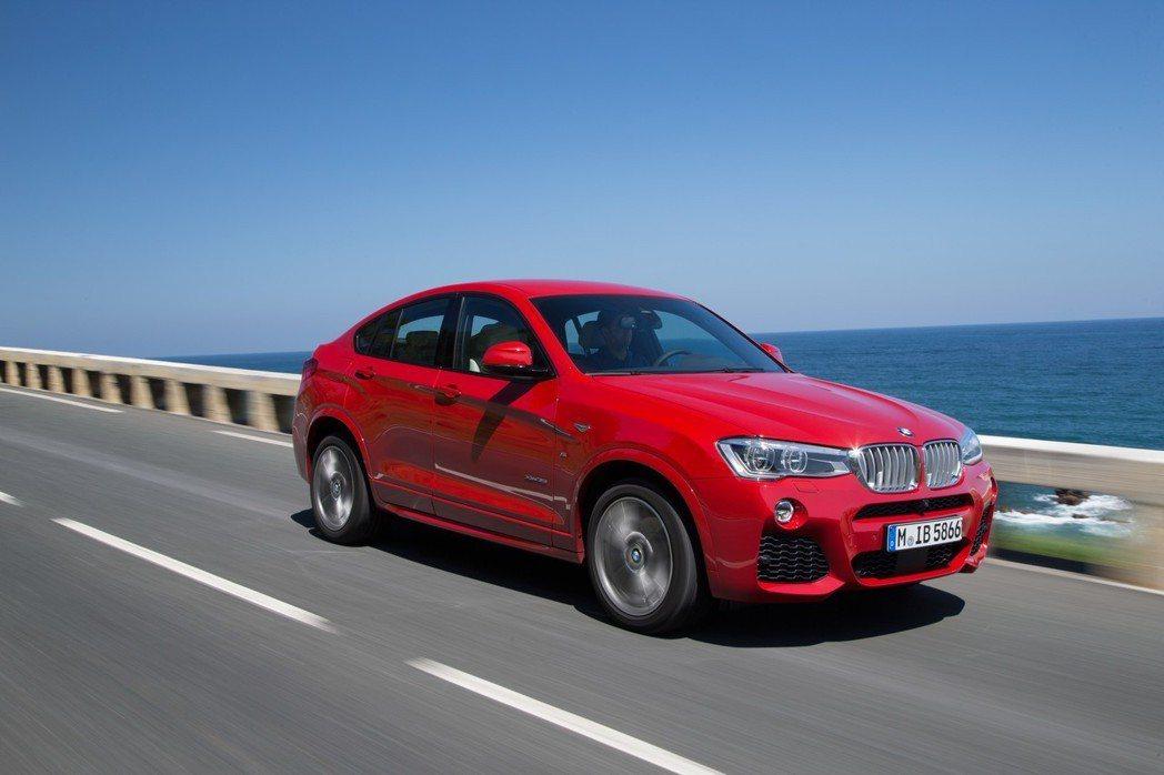 圖為現行版BMW X4(F26)。 摘自BMW