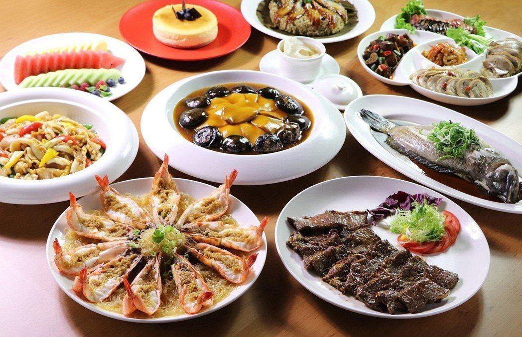 北投亞太的除夕圍爐年菜,強調清爽不油膩。 業者/提供