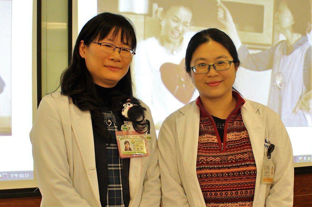 台中醫院精神科主任林秀縵(右)和心理師胡純閔。圖/台中醫院提供