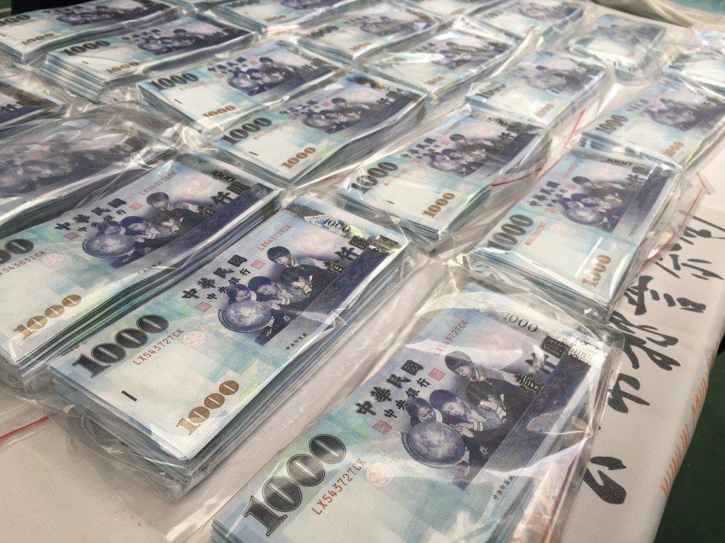 雲林縣警方破獲偽鈔集團,仍有35萬元流入市面。記者陳雅玲/攝影