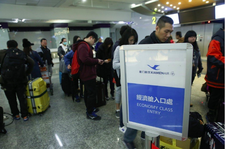 對於M503航路爭議,大陸東方、廈門航空取消春節加班機帶來的影響,台灣學生聯誼總...