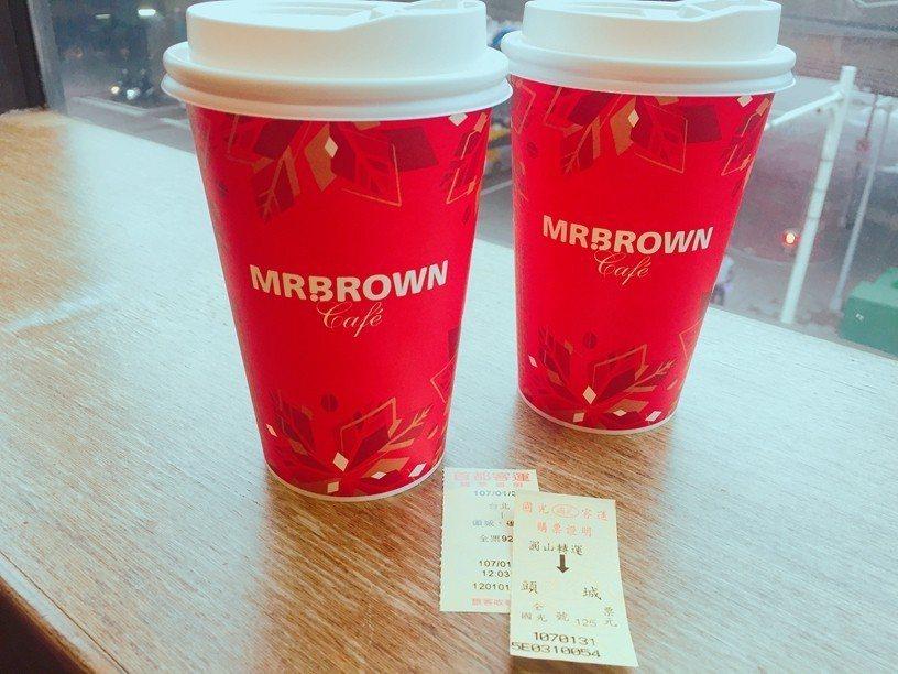 伯朗咖啡館春節返鄉優惠,出示車票飲品第二杯7折。圖/伯朗咖啡提供
