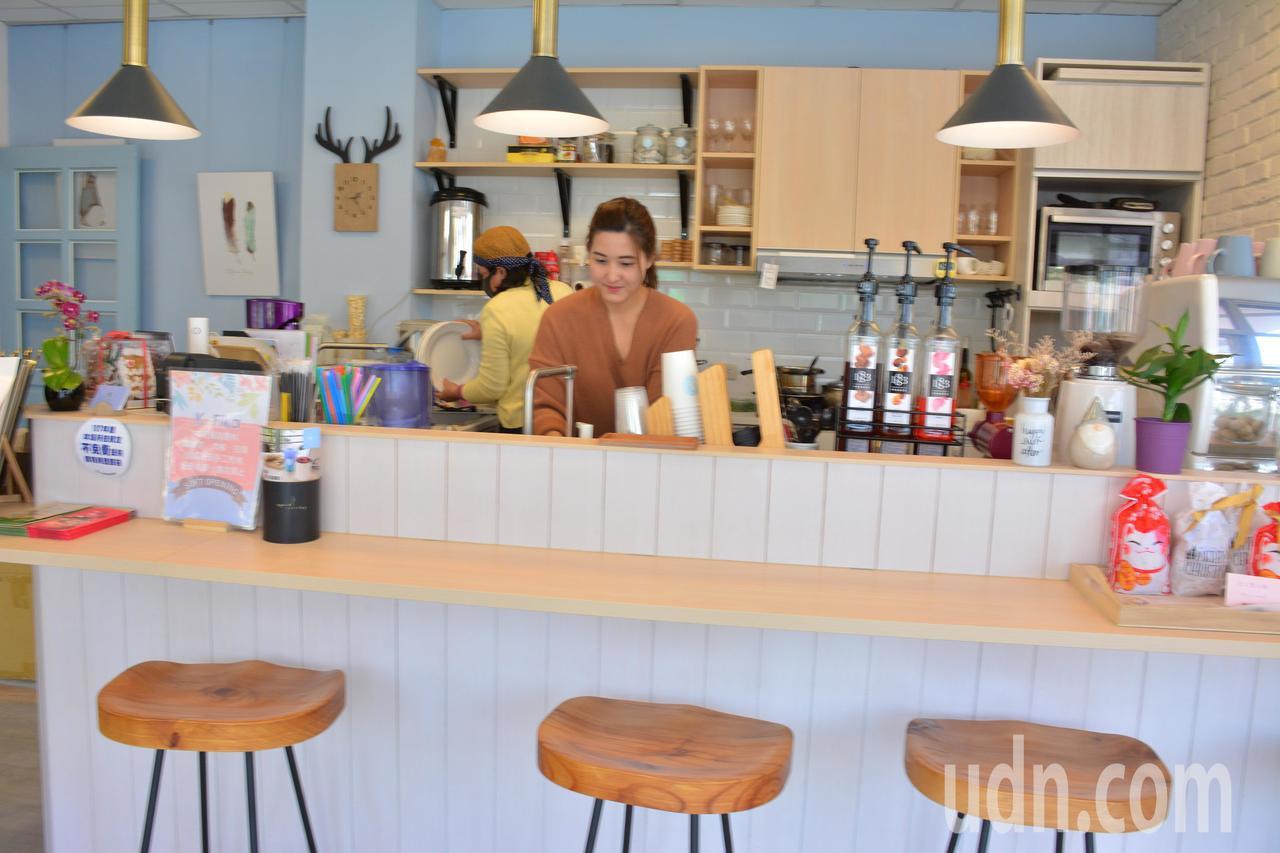 台南山上區啡卡(K.Fika)咖啡館,走老闆喜歡的北歐風格。記者吳淑玲/攝影