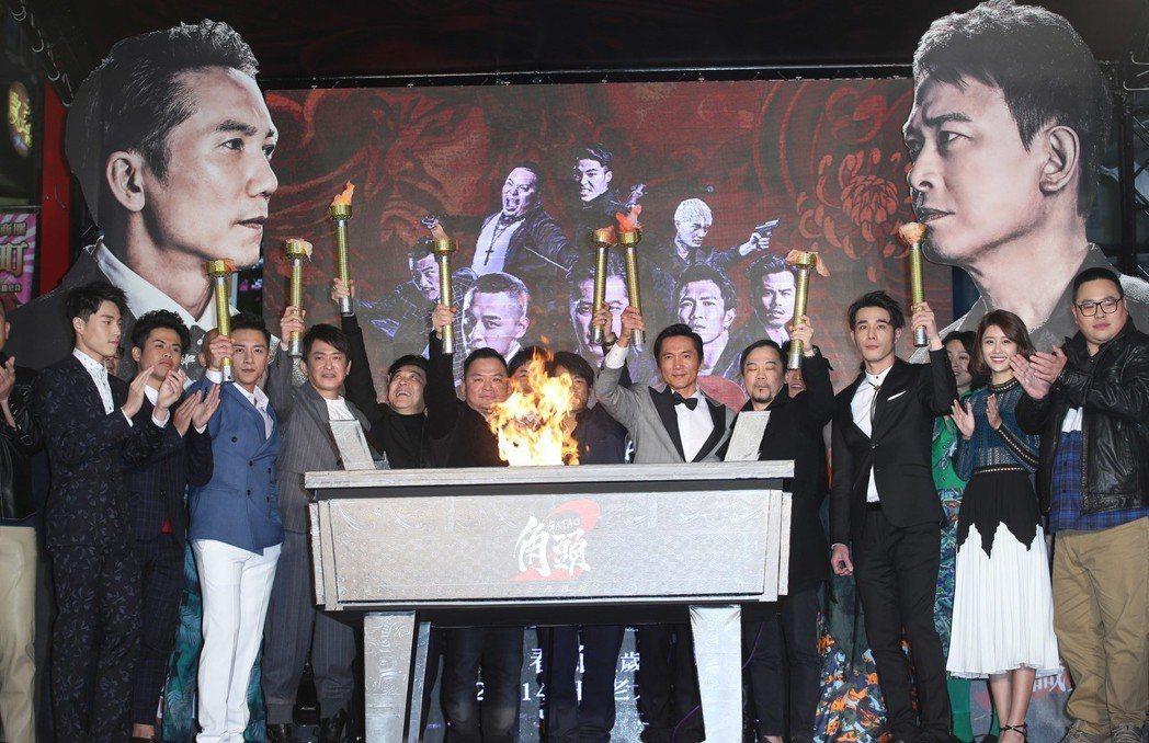 電影「角頭2」舉辦首映會。記者陳瑞源/攝影