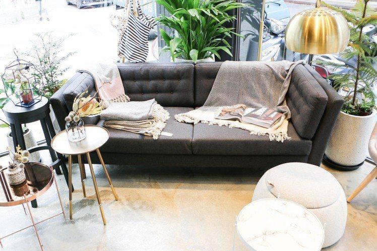 瑪黑家居更首次代理丹麥經典品牌Bloomingville的系列家具。圖/謝欣倫攝...