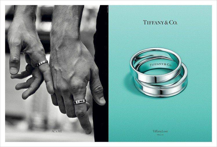 趕在情人節前夕Tiffany & Co.推出全新TiffanyLove形象廣告照...