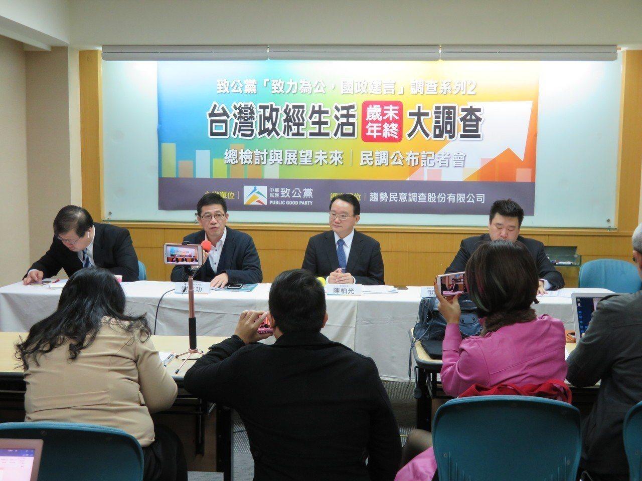 致公黨13日發布一項民調指出, 近八成民眾對花蓮地震政府救災表現表示滿意。記者林...