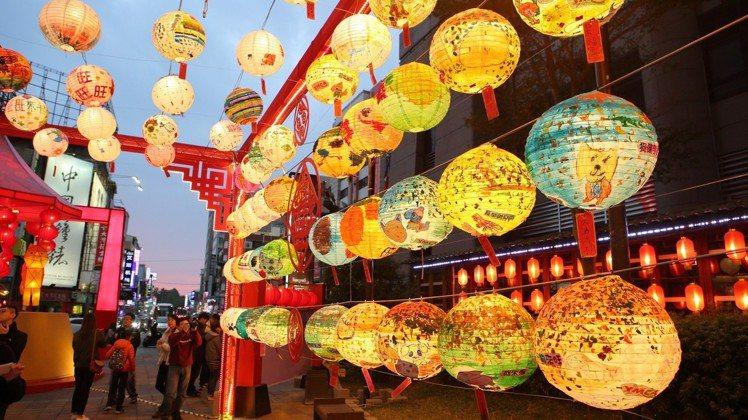 新光三越台南新天地綵燈節。圖/新光三越提供