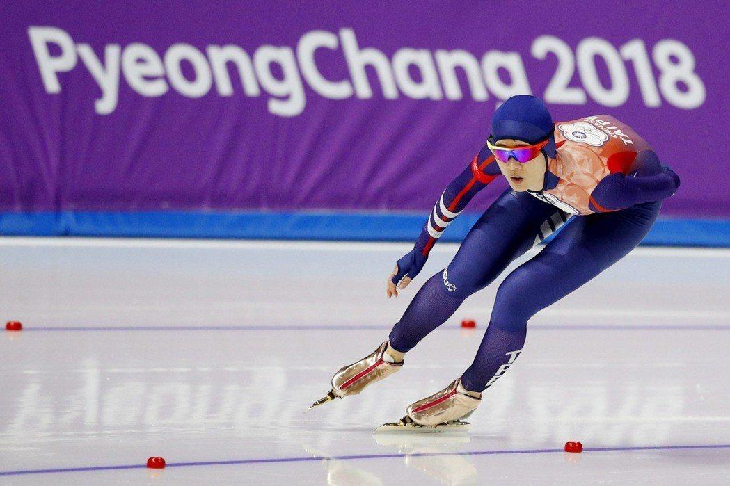 黃郁婷在冬奧競速滑冰1000公尺獲第20名。 路透