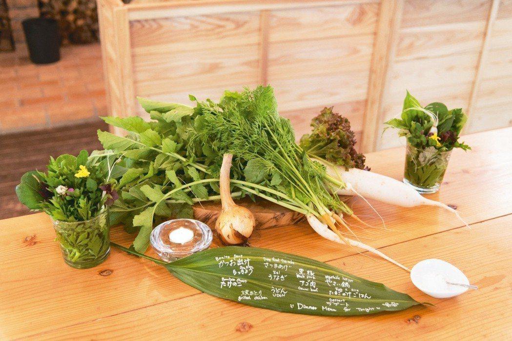 在地的「真食物」,是「天空之森」自豪的本物料理。 圖/梁旅珠