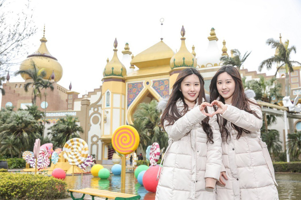 六福村「甜蜜魔宮-甜點嘉年華」慶典網美最愛拍照點。六福村主題遊樂園/提供