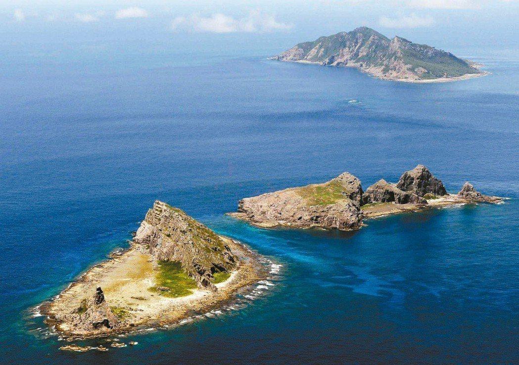 釣魚台群島空照圖。聯合報系資料照
