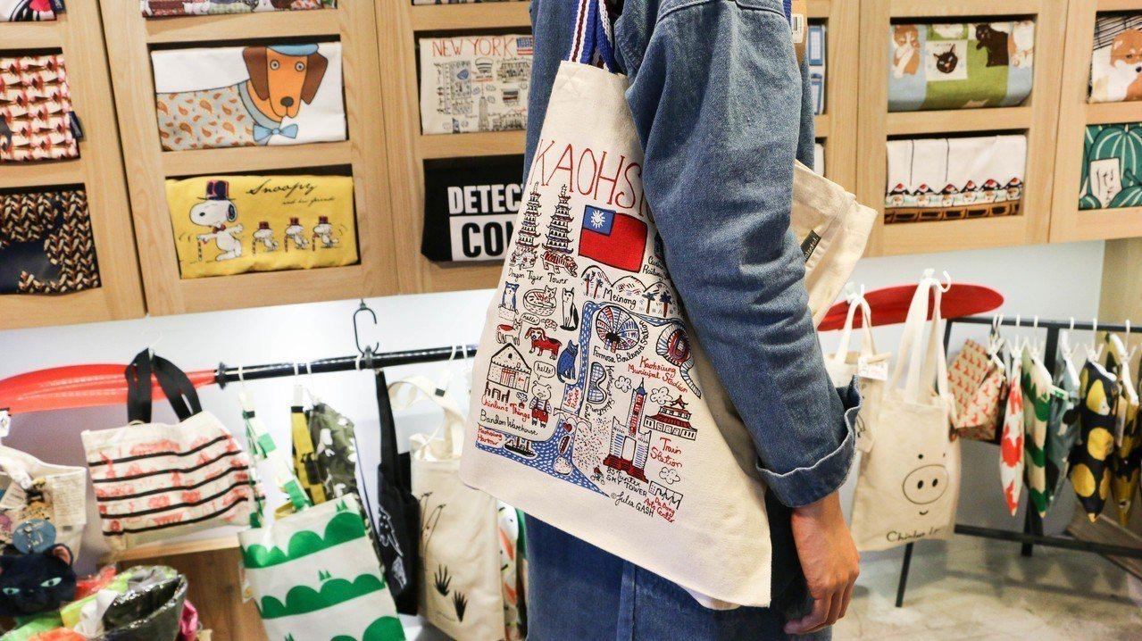 像日本小店的有豆袋店集結世界各地提袋及布製品,並推廣避免使用動物皮革觀念。 記者...