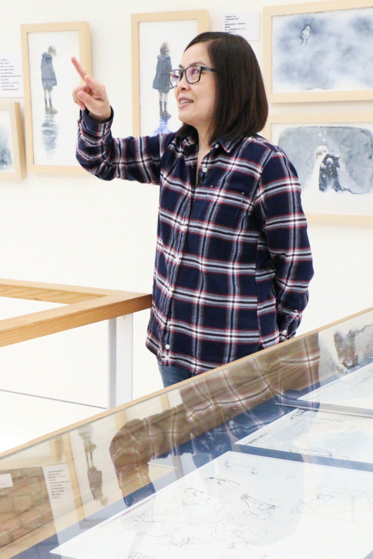繪本創作者李瑾倫去年邀請到繪本屆重量級畫家伊勢英子,在灰灰基地美術館辦展。 記者...