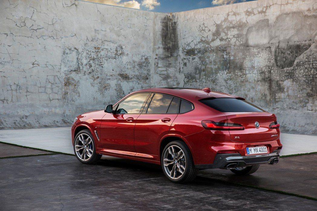 全新BMW X4(G02)車尾變化非常大。 摘自BMW