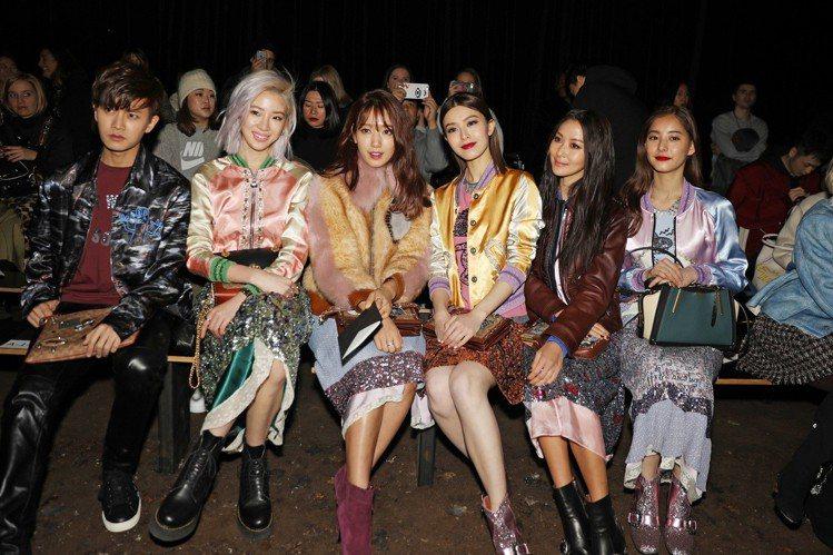 (由左到右) 中國藝人任嘉倫、韓國名人Irene Kim、韓國藝人朴信惠、香港藝...