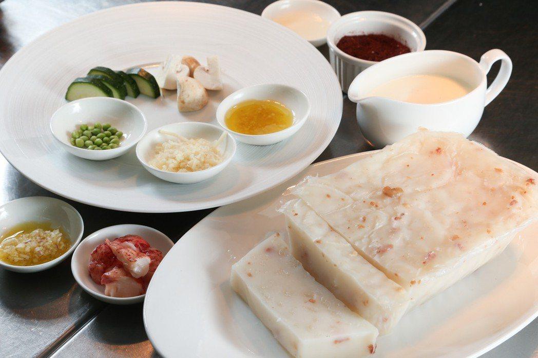 義式海鮮蘿蔔糕材料。記者陳立凱/攝影