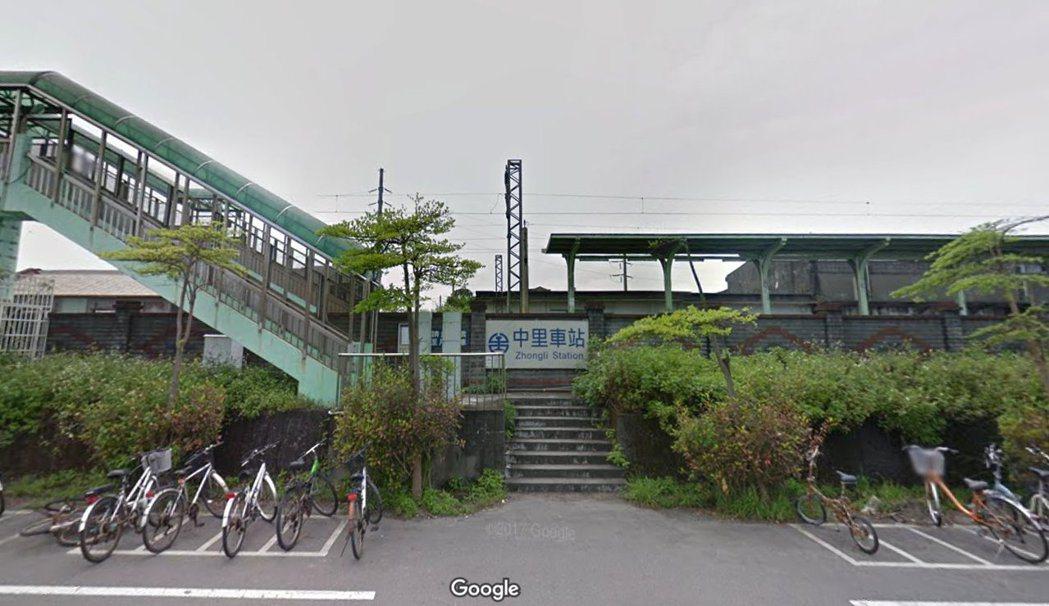 中里車站為無人招呼站。圖擷取自Google 地圖