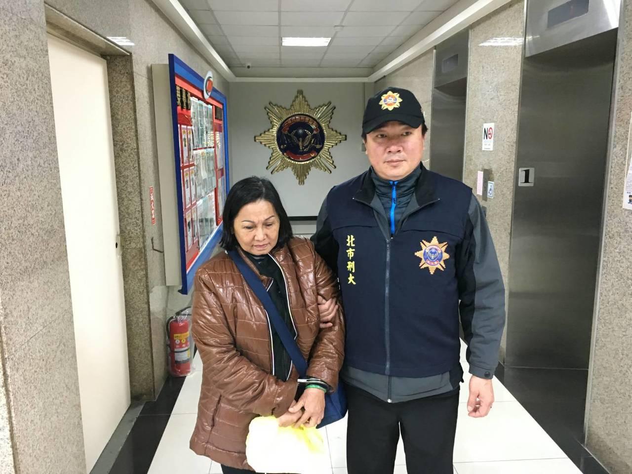 越南籍慣竊林姓婦人,遭警方逮捕。記者廖炳棋/翻攝