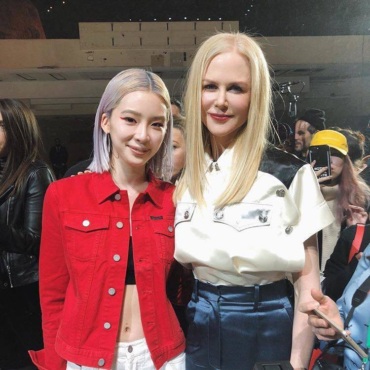 韓國網紅Irene Kim與妮可基嫚。圖/擷取自IG