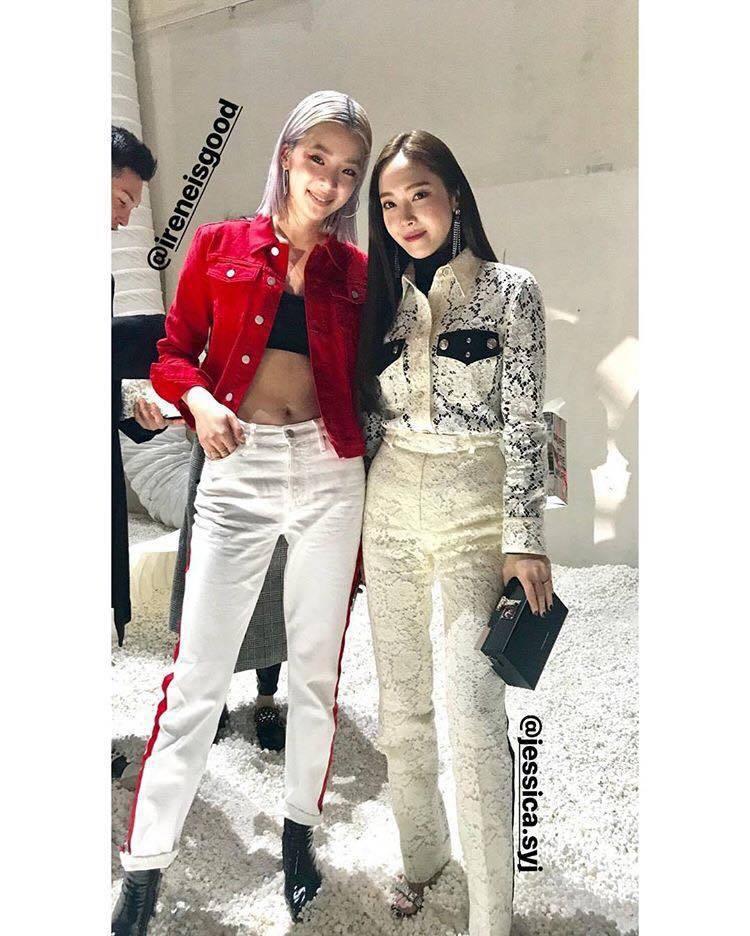 韓國網紅Irene Kim與潔西卡。圖/擷取自IG