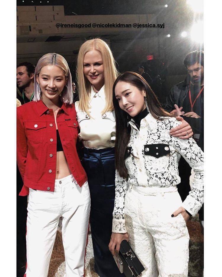 韓國網紅Irene Kim、妮可基嫚、潔西卡。圖/擷取自IG