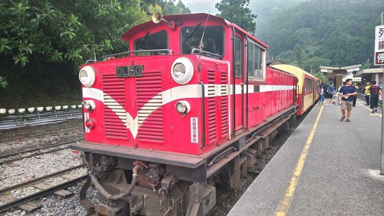 阿里山小火車今天下3時許因不明原因脱軌。圖/報系資料照