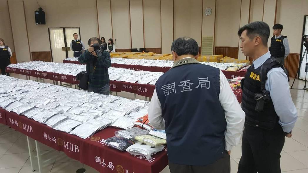 調查局破獲史上最大,多達600公斤搖頭丸,市值30億。記者陳煜彬/攝影