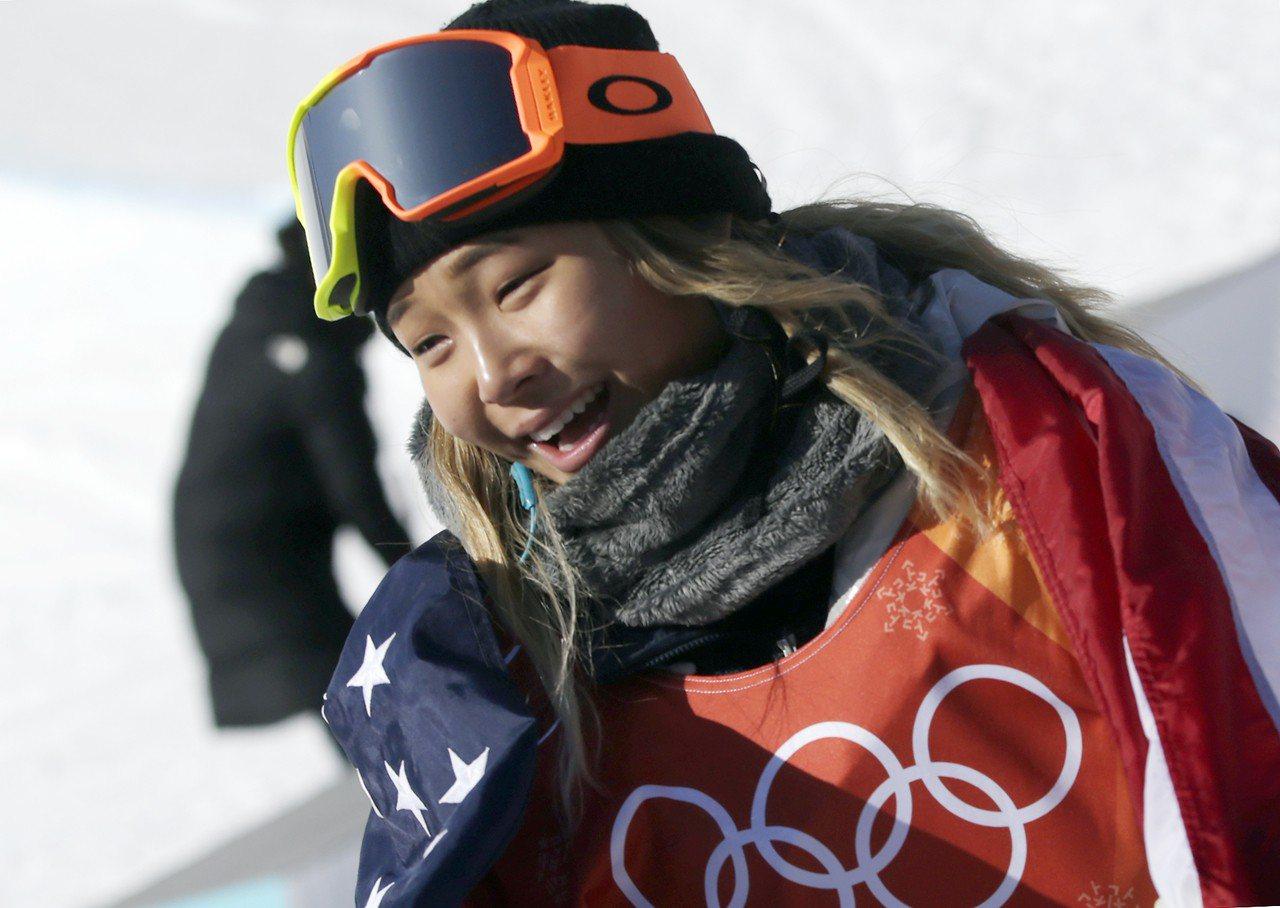 美國女子雪板選手金善。歐新社