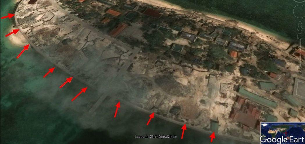 但我方近一年來透過衛星照片,長期監控越南敦謙沙洲動態,「衛星照片天天看」,發現敦...
