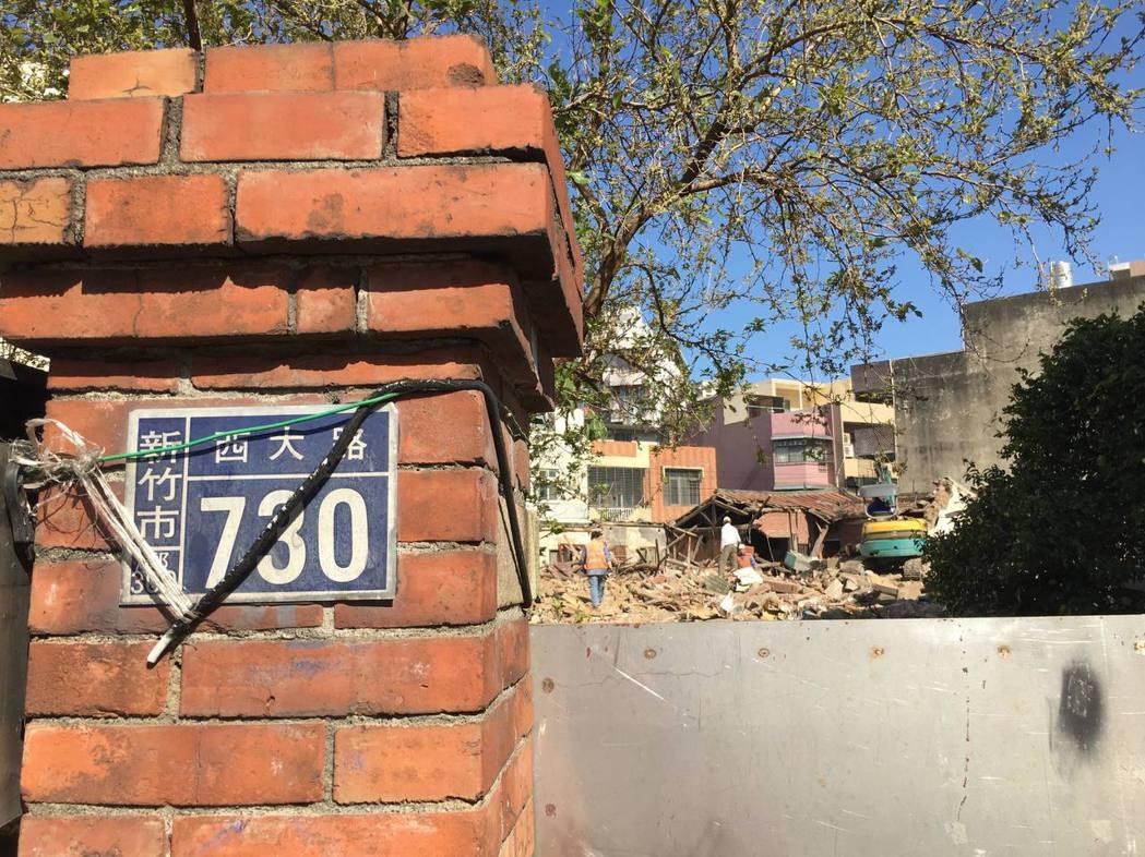 新竹太原第(溫宅)座落在西大路730號,是不少新竹人的回憶,如今已被拆除。記者郭...