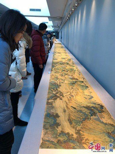 「絲路山水地圖」進駐北京故宮博物院。圖/取自中國網