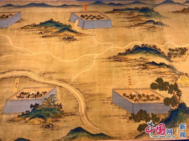 「絲路山水地圖」局部。圖/取自中國網