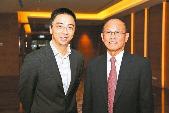 台微體董事長洪基隆(右)與總經理葉志鴻。 本報系資料庫