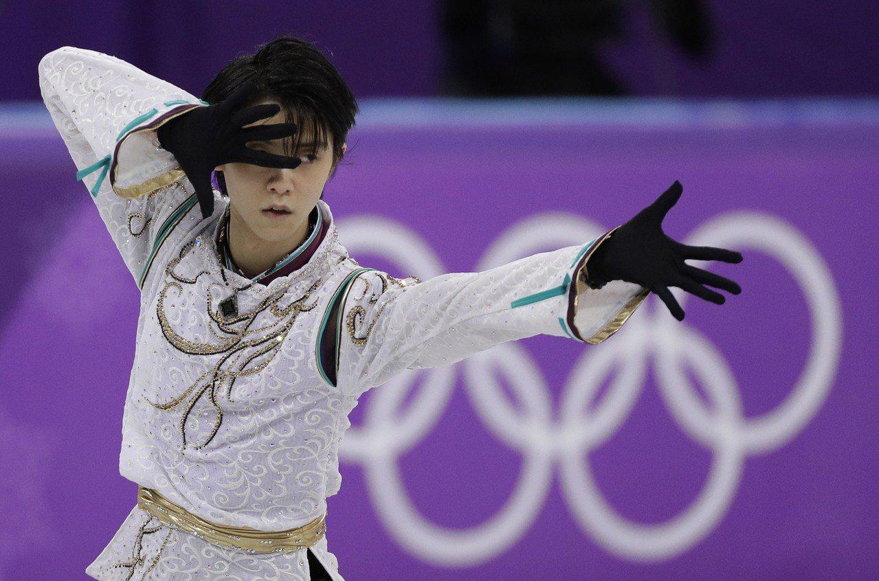 羽生結弦摘冬奧金牌,卻無緣世錦賽。 美聯社