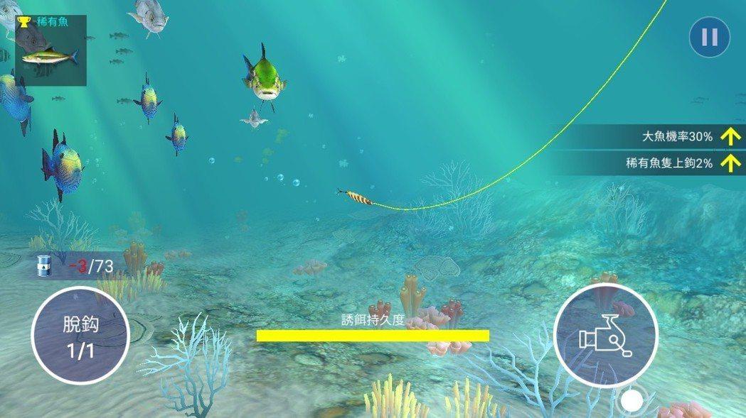 讓你在釣魚途中不只是等待,而是能看見澄澈海洋下的世界。