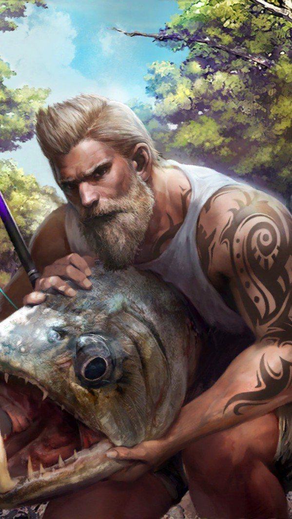 大師釣客「何塞」,看這樣的肌肉不用釣竿也能徒手抓魚吧。