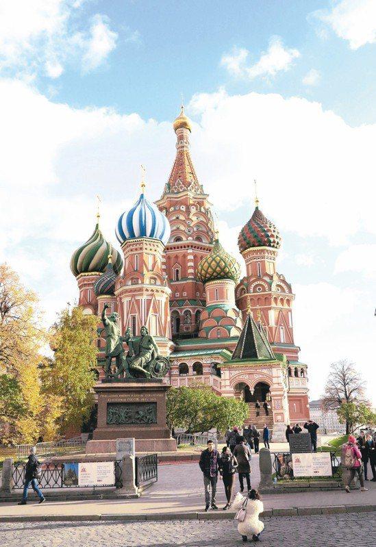 全球股市震盪,新興歐洲股仍為投資人矚目焦點。圖為莫斯科紅場的聖瓦西里主教堂。 本...