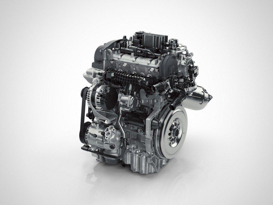 圖為 T3 三缸引擎。 摘自 Volvo