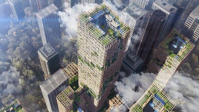 日本計畫興建全球最高木造大樓,於2041年落成。日本住友林業
