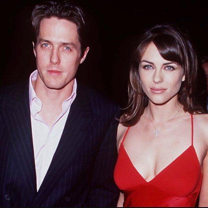 休葛蘭和伊莉莎白赫莉曾是著名的明星情侶。圖/摘自instagram