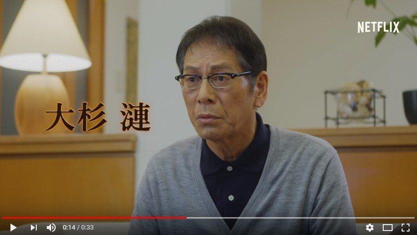 日本男星大杉漣過世。 圖/擷自youtube。